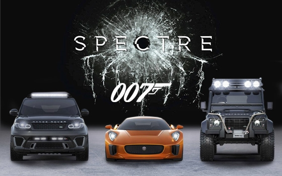 Jaguar and Land Rover vehicles in Spectre Movie