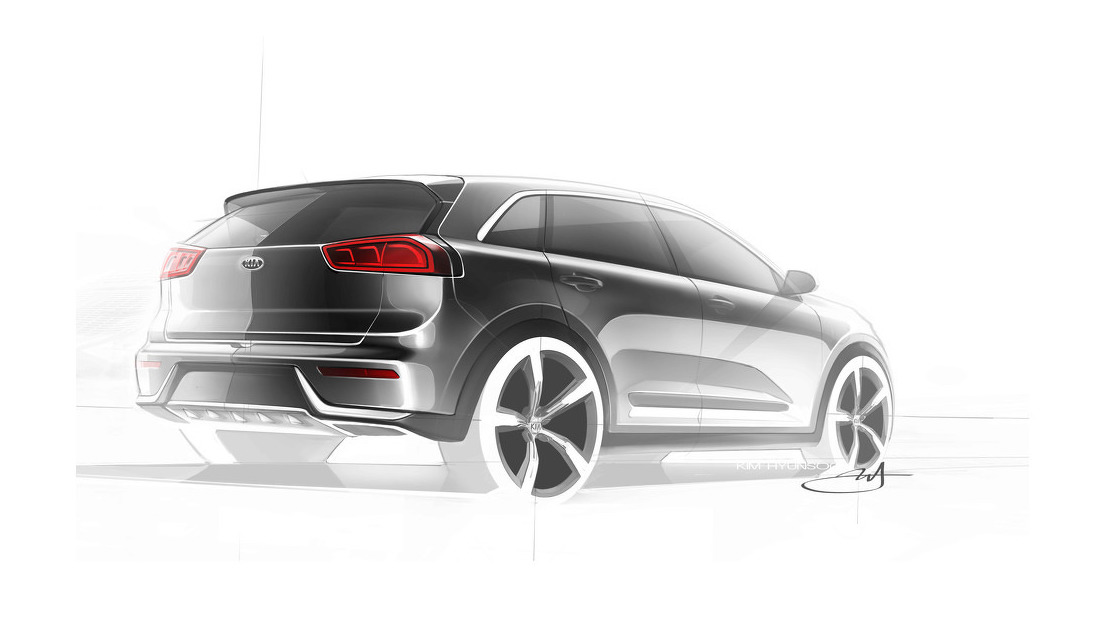 Kia Niro Rear View Picture
