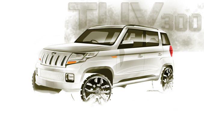 Mahindra TUV 300 Front View Picture