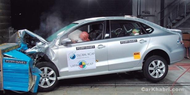 Volkswagen Vento NCAP Test Picture