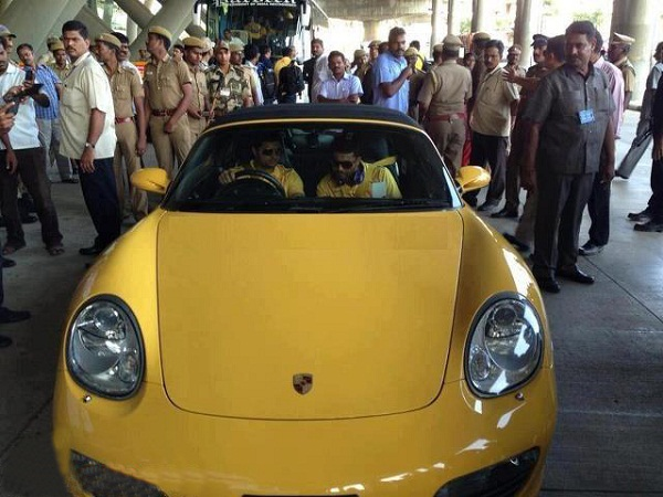 Suresh Raina with Porsche Boxster