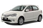 Toyota Etios Liva in White Color