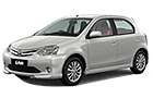 Toyota Etios Liva in Silver Color