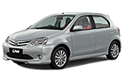 Toyota Etios Liva in Bluish Silver Color