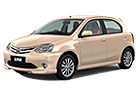 Toyota Etios Liva in Beige Color