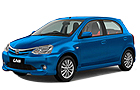 Toyota Etios Liva in Blue Color