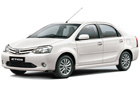 Toyota Etios in White Color
