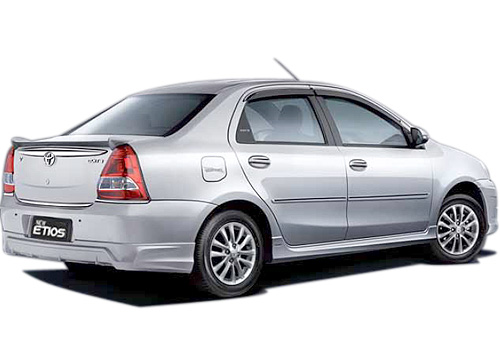 Toyota Etios Rear Angle View Exterior Picture