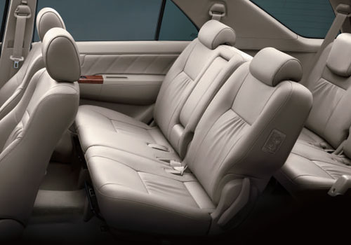 Toyota Fortuner Rear Seat Picture
