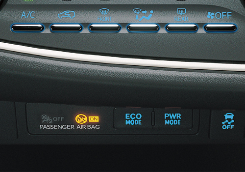 Toyota Innova Crysta Front AC Controls Interior Picture