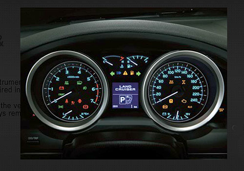 Toyota Land Cruiser Tachometer Interior Picture