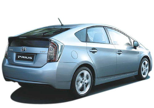 Toyota Prius Rear Angle View Exterior Picture