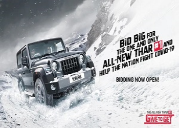Bid In Auction For Mahindra Thar To Contribute In Covid-19 Relief Aid