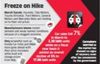 Weak demand freezes the decision of price hike by auto companies