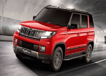 Spied Images Of Facelift Mahindra TUV300 Surface Online