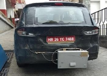 Generation Next Maruti Suzuki Ertiga Spied With Emission Testing Tool
