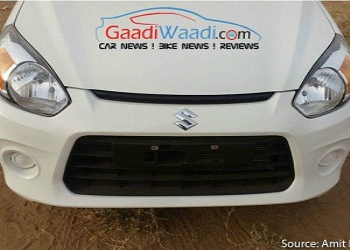 Uncovered Maruti Suzuki Alto 800 2016 caught on roads