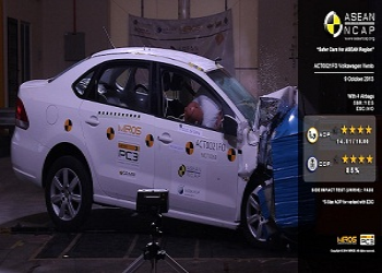 India made Volkswagen Vento gets 5 Stars at ASEAN NCAP Test